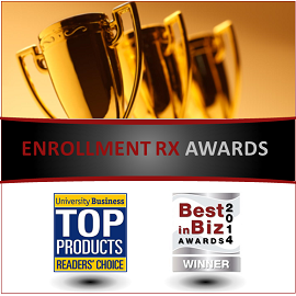 Accolades for Enrollment Rx from the Higher Ed Industry