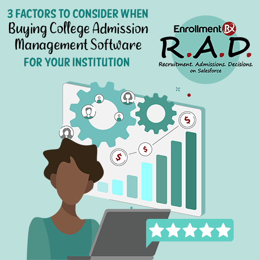 3 factors to consider when buying college admission management software